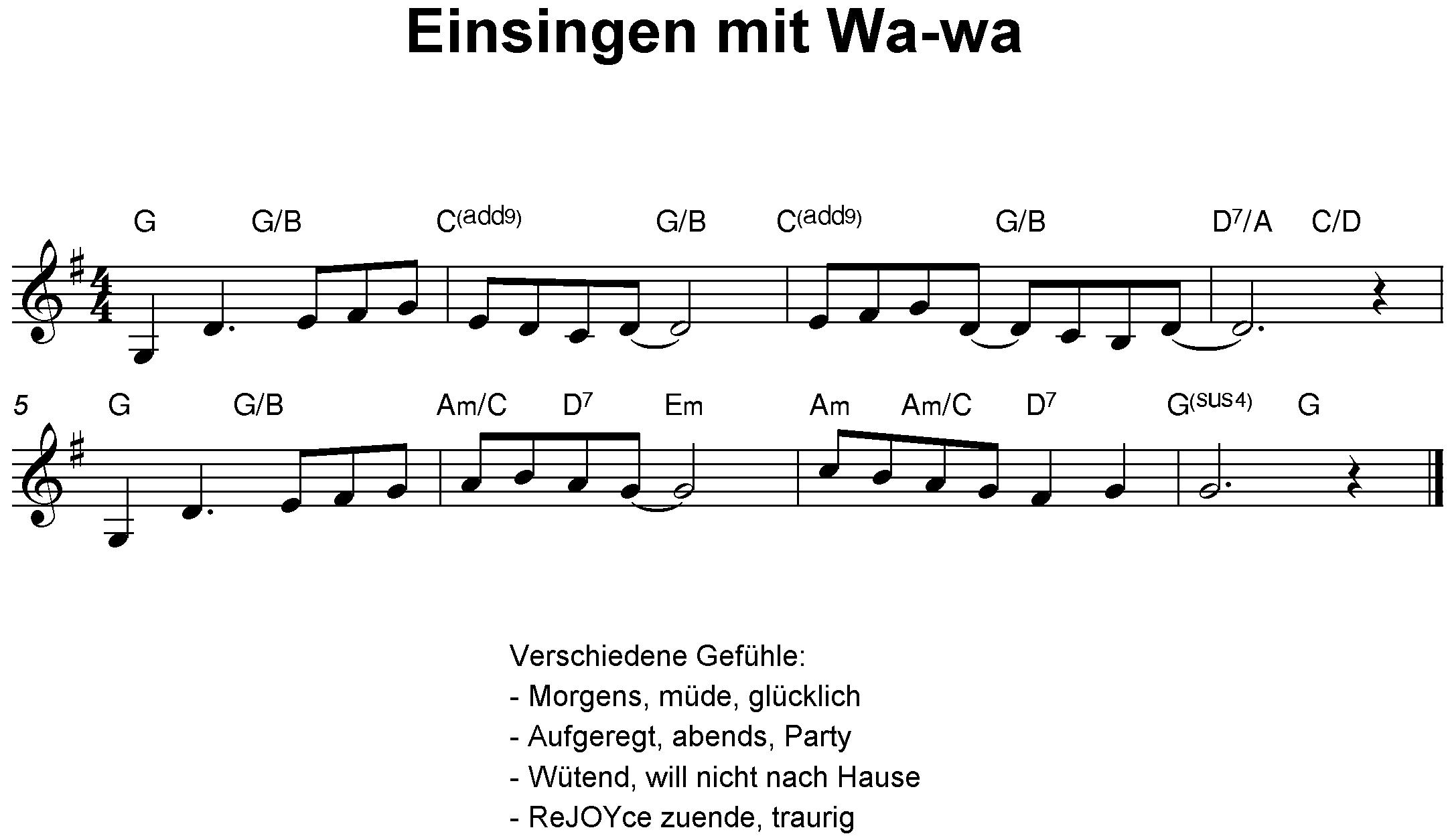 Einsingen mit Wa-wa